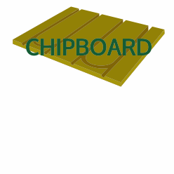 Pre-Routed Chipboard
